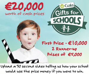 Advert: https://www.gala.ie/competitions/galagiftsforschools/