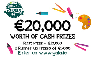 Gala Retail announces €20,000 giveaway to Primary Schools